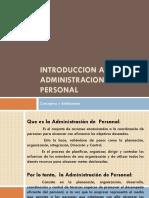 Conceptos, Objetivos, Responsabilidades de La Administracion de Personal