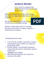 Evaluation of Research Article