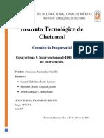 Intervenciones del Desarrollo Organizacional y enfoques de intervención