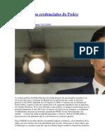 2016 11 01 R FG Urbaneja Las Confusas Credenciales de Pedro Sánchez
