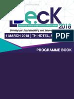 Programme Book IBeck2018