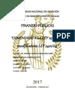 Análisis de la Ley 125/91 y su modificatoria la Ley 2421/14