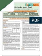 IDBI Nifty Junior Index Fund NFO Application Form