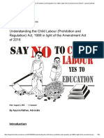 Understanding the Child Labour (Prohibition and Regulation) Act, 1986 in Light of the Amendment Act of 2016 – LawSchoolNotes