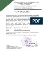 Surat Rekomendasi Scan