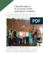 Alcaldía de Bucaramanga Ha Conformado 23 Nuevos Comités Cívicos de Participación Ciudadana
