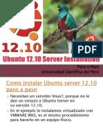 Guia de Instalación Inicial - Linux Ubuntu Server 12