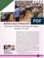 Buffalo milk Production in India