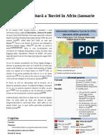 Intervenția Militară a Turciei În Afrin ( Ianuarie 2018 )
