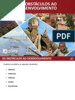 1 - Obstáculos Ao Desenvolvimento (Geografia)
