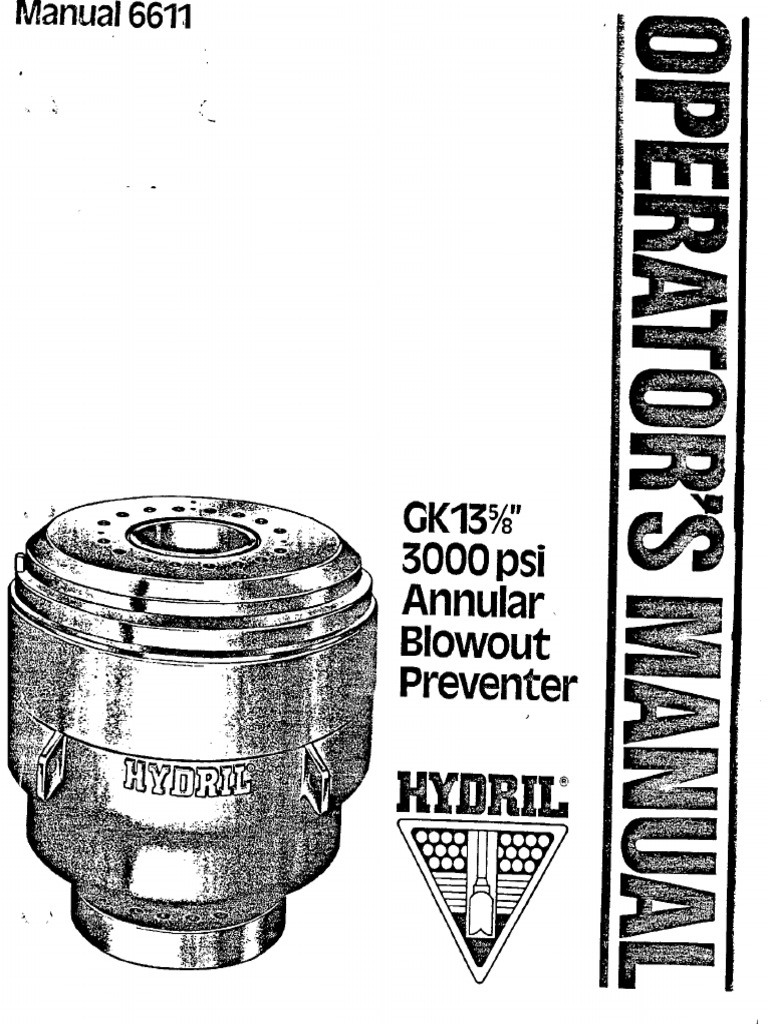 Hydril 13-3M HydrilGK Operators Manual 6611