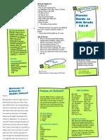 6th grade parent guide brochure 2017-18