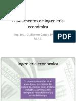 Diapossitivas  Fundamentos de Ingeniería Económica