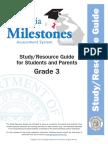 milestones studyguide grade 3