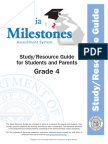 milestones studyguide grade 4