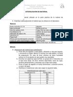 Práctica 1. Esterilización de Material