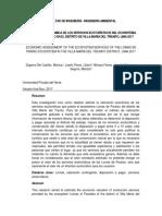 Paper Valoración de los Recursos Naturales