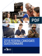2018 Federal Questionnaire