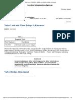 Valve Lash and Valve Bridge Adjustment