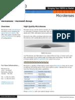 Microlenses - Microlens Arrays - Micralyne MEMS Manufacturer