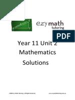 Ezy Math Tutoring - Year 11 Answers