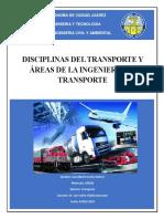 Disciplinas Del Transporte y Areas de La Ingenieria