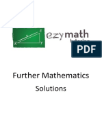 Ezy Math Tutoring - Further Maths Answers