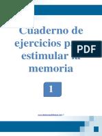 Cuaderno de Ejercicios de Estimulación Cognitiva Nº 1