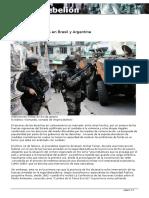 La Política Militarista en Brasil y Argentina