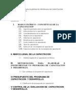 INDICE TENTATIVO PARA ELABORAR EL PROGRAMA DE CAPACITACION.doc