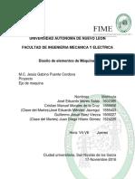 PROYECTO DISEÑO DE ELEMENTOS DE MAQUINAS UANL