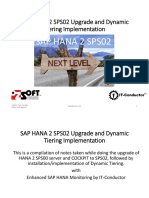 SAP HANA 2 SPS02 Upgrade and Dynamic Tiering Implementation