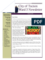 Ward 5 Councilmember Richard Fimbres Newsletter - February 2018