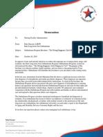 Texas Long Term Care Ombudsman memo to nursing facility administrators