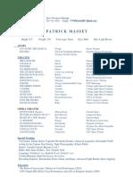 Patrick Massey Resume
