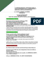 Eventos Comision Municipal Para rio de La In Depend en CIA 2010