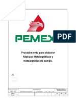 Procedimiento Para Elaborar Replicas Metalograficas