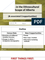 Organic Alberta 2018 Conference Presentation - Cultural Demographics and New Crop Opportunities - Rob Spencer