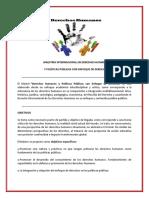 Derechos Humanos y Politicas Publicas Con Enfoque de Derechos Pulse Aqui Para Ver Los Objetivos y El Contenido Programatico de La Maestria Internacional