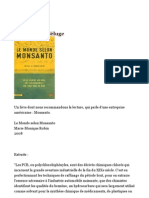 "Extraits du livre ""Le Monde selon Monsanto"""