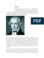bibligrafia Immanuel Kant