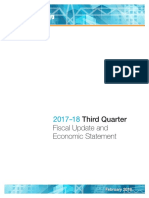 2017-18 Third Quarter Report Fiscal Update