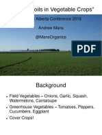 Organic Alberta 2018 Conference Presentation - Healthy Soils in Vegetable Crops by Andrew Mans