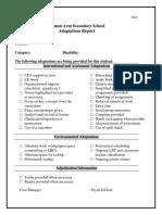 adaptations checklist
