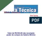 Dieese Nota Tec 188 Salariominimo Jan2018