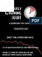 Early Warning Score, a scorecard that save lives