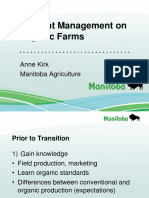 Organic Alberta 2018 Conference Presentation - Nutrient Management on Organic Farms by Anne Kirk