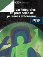 CIDH Proteccion Personas Defensoras