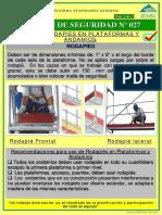 Boletín HSEC 027 Uso de Los Rodapies en Las Plataformas y Andamios