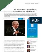 ¿Qué Hace El Director de Una Orquesta Con Las Manos y Por Qué Es Tan Importante_ - Arte - Diario La Informacion